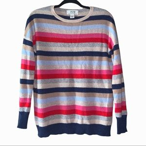 PLY Cashmere 100% cashmere sweater with stripes